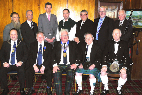 Burns Supper Committee and guests