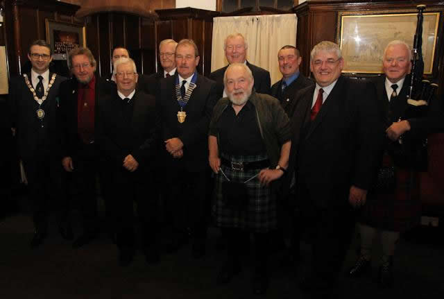 Burns supper top table
