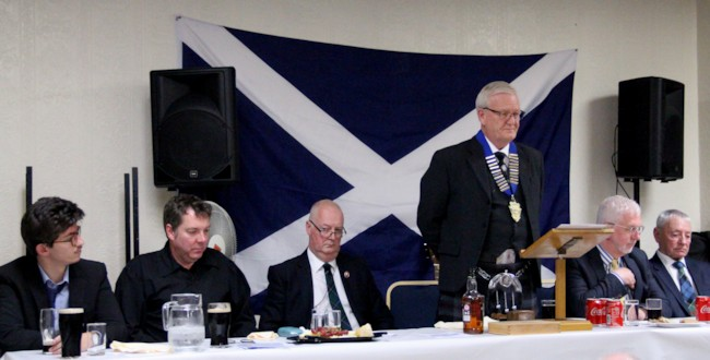 Top table at St Andrews night