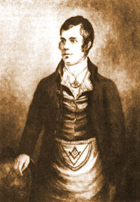 Robert Burns as a mason