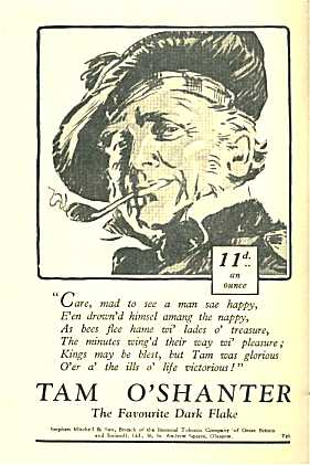 tamoshanter tobacco advert